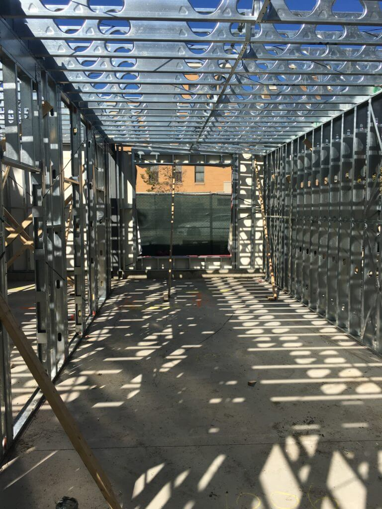 Cold formed steel framing installation